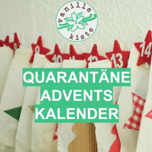 Ab 1. April: der Vanillekiste Quarantäne-Adventskalender bei Instagram und Facebook!