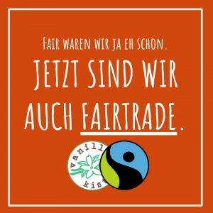 Fairtrade-Handelserlaubnis✓ Wir sind Fairtrade!